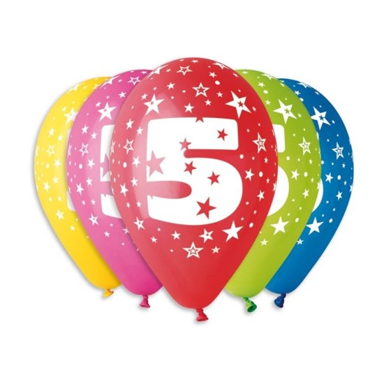 Снимка на Балон Цифра 5