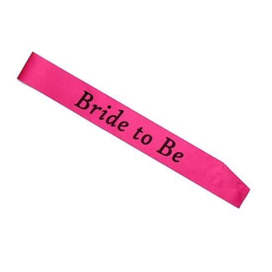 Лента Bride to Be Цикламена 156х9.5 см