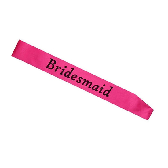 Снимка на Лента За Моминско Парти Bridesmaid Цикламена 156х9.5см.