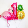 Фолиев Балон Фламинго Розов