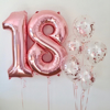 Балон Цифра 4 Розово Злато 100 см