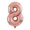 Балон Цифра 8 Розово Злато 100 см