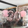 Балон Цифра 9 Розово Злато 100 см