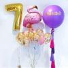 Фолиев Балон Фламинго Лилав 125х90 см