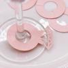 Пръстени За Чаши Розови 8х8 см