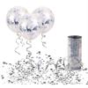 Балон Със Сребърни Конфети 30 см