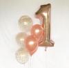 Балон С Конфети Розово Злато 30 см