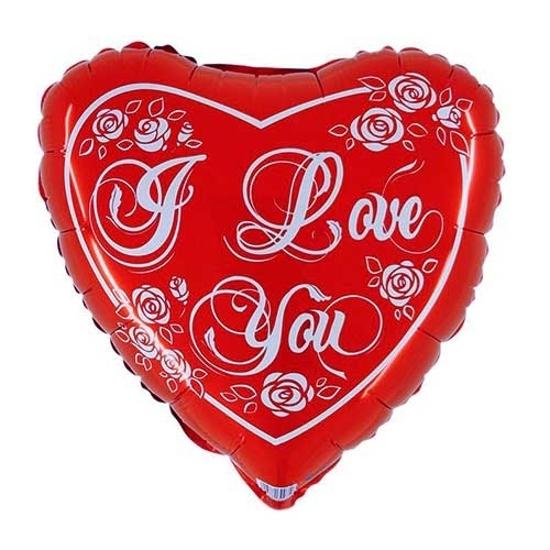 Фолиев Балон Сърце I love you 45 см