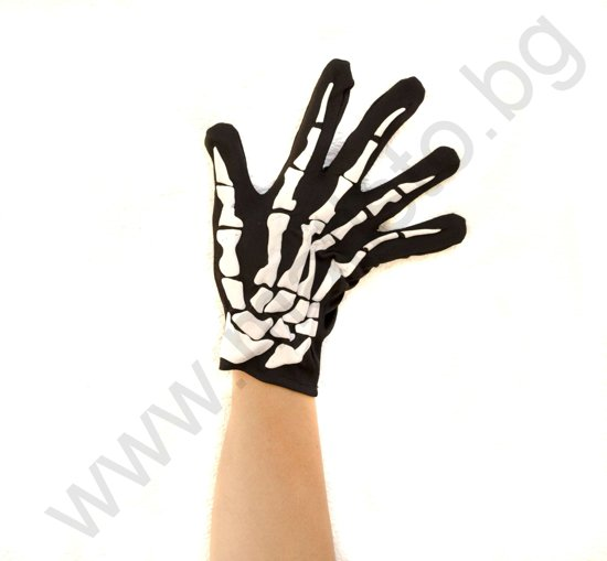 Ръкавици с Кости за Хелоуин