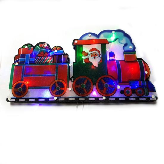 Светеща Фигура Влак Разноцветни LED Лампички 46х25 см