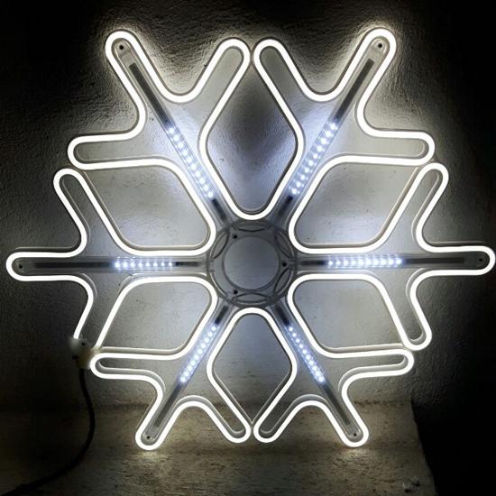 Светеща Фигура Снежинка Бяла - LED Лампички 50 см