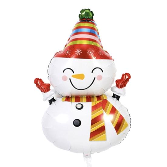 Фолиев Балон за Коледа и Нова Година Снежен Човек 110х55 см
