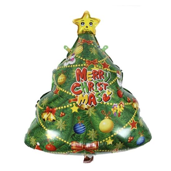 Фолиев Балон за Коледа и Нова Година Елха 74х56 см