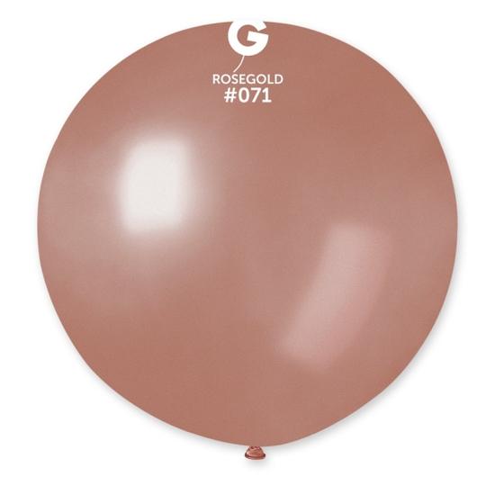 balon-rozovo-zlato-metalik-80
