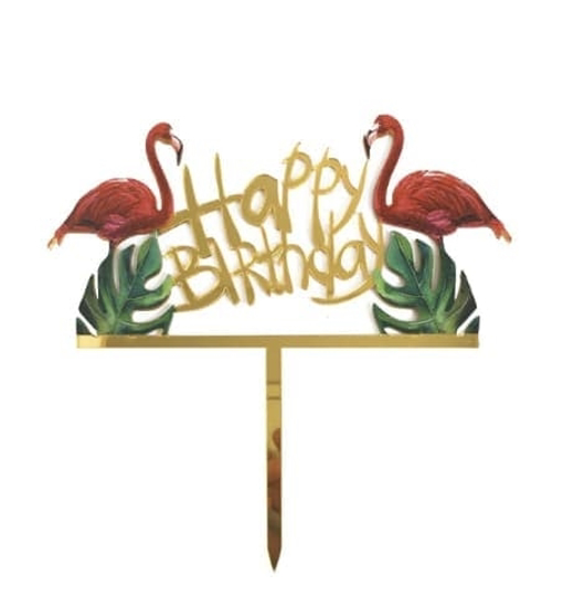 toper-za-torta-happy-birthday-flamingo