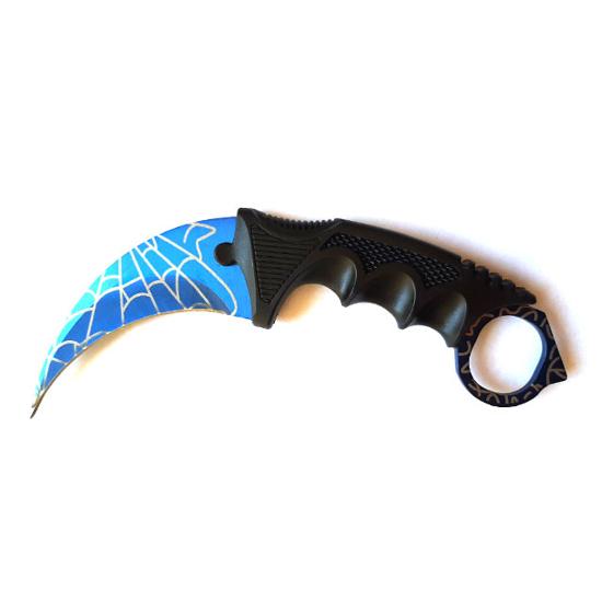 Снимка на Нож Карамбит CS: GO X-21 Blue Web | 19 см