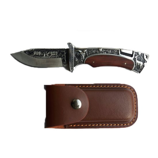 Снимка на Сгъваем Нож с кожена кания 3191 22см.