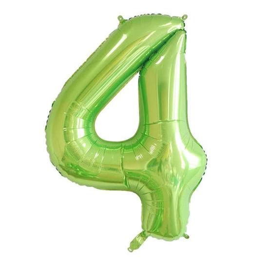 balon-cifra-4-zelen-100