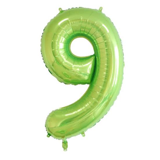 balon-cifra-9-zelen-100