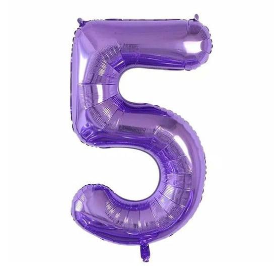 foliev-balon-cifra-5-lilav