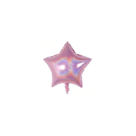 foliev-balon-zvezda-mini-rozov-hologramen