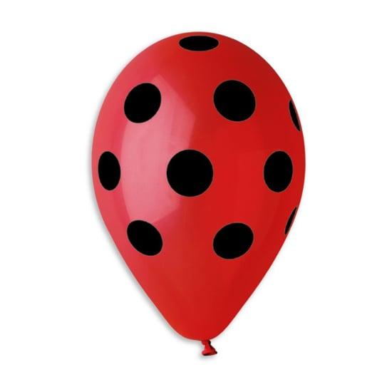 cherven-balon-cherni-tochki