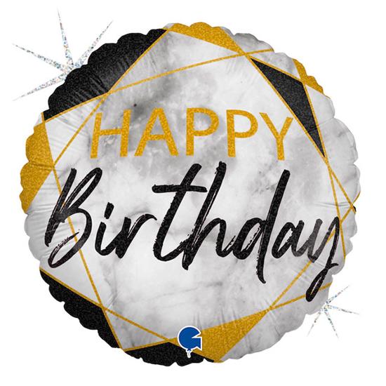 foliev-balon-happy-birthday-zlatno-cherno