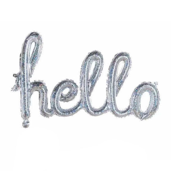 balon-nadpis-hello-srebrist