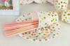 Снимка на Парти чинийки Точки розово и златно 18см 10 броя