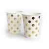 Парти чашки със златисти точки 10 броя
