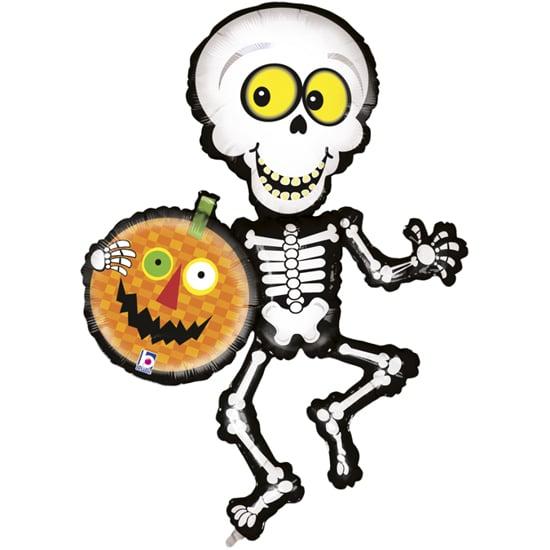 Снимка на Фолиев балон за Хелоуин Скелет 106см.