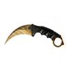 Снимка на Нож Карамбит CS: GO X-16 Gold Line | 19см.