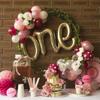 Снимка на Фолиев  балон надпис One розово злато 106см