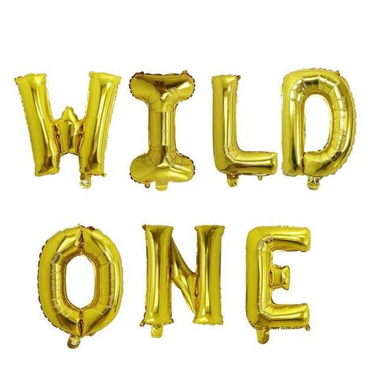 foliev-balon-nadpis-wild-one-zlatist