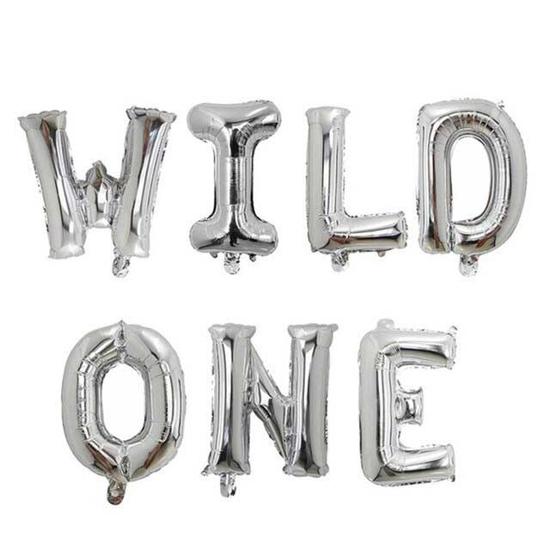 foliev-balon-nadpis-wild-one-srebrist
