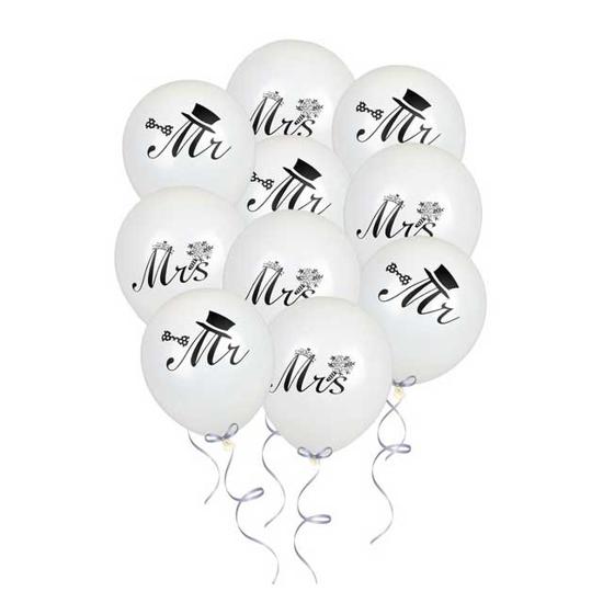 Снимка на Балон За Сватба С Надпис Mr и Mrs 30 см