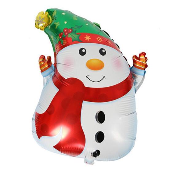 Снимка на Фолиев балон снежен човек 50х40см.