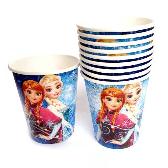 Снимка на Парти чашки Замръзналото Кралство  10 бр.