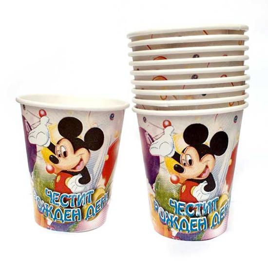 Снимка на Парти чашки Мики Маус 10 броя