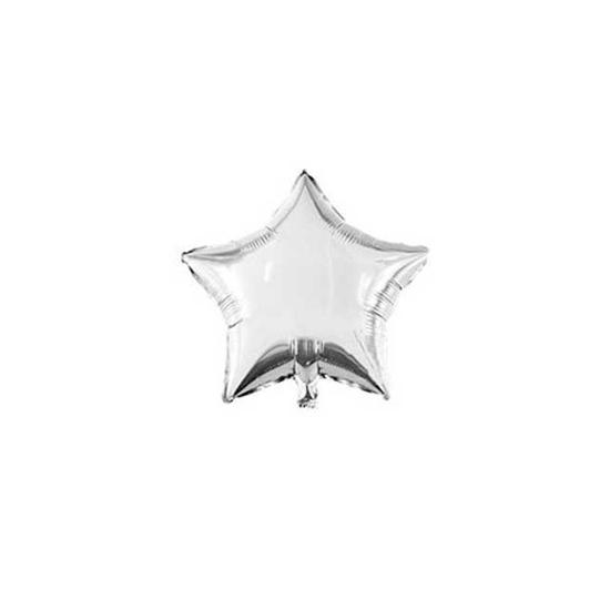 Снимка на Мини фолиев балон звезда 13см сребърен