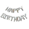 Снимка на Комплект балони Happy Birthday сребърни холограмни