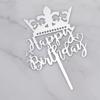 toper-za-torta-Happy-Birthday-srebrist-korona