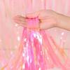 Снимка на Парти завеса ресни розов хамелеон 1х2 метра