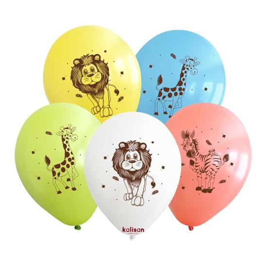 Снимка на Балони с животни микс 5 броя