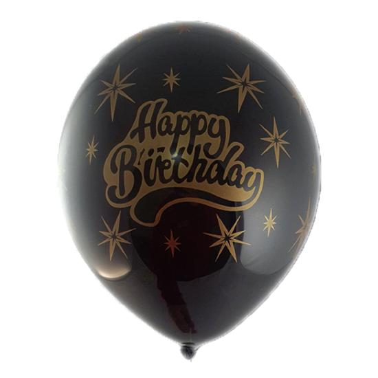baloni-s-nadpis-happy-birthday-cherno-i-zlatisto