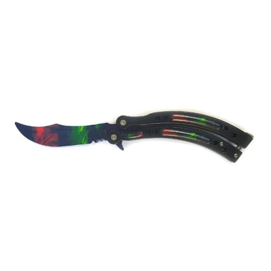Снимка на Тренировъчен сгъваем нож пеперуда Z-62T | 23см.