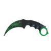 Снимка на Тренировъчен Нож Карамбит CS: GO Z-KA14X зелен | 19см.