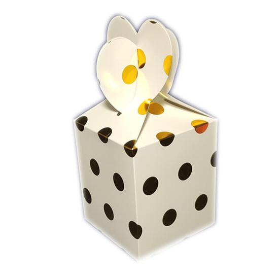 Снимка на Кутийки за подаръци и сладки златисти точки 6 броя