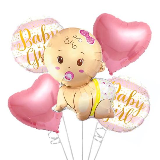 komplekt-folievi-baloni-za-bebe-momiche-baby-girl