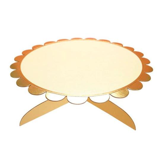 Снимка на Стойка за торта и сладки жълта 33см.